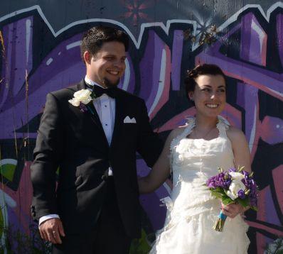 Visby Graffiti - bröllopspar