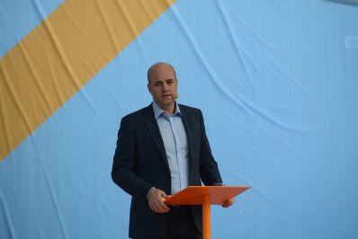 Statsministern och Moderaternas partiledare Fredrik Reinfeldt talar i Almedalen 2012