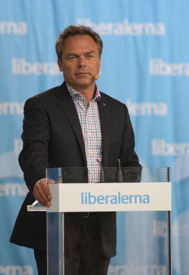 Folkpartiet Liberalernas partiledare Jan Björklund talar i Almedalen 2012