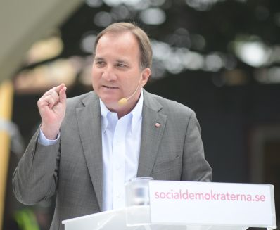 Socialdemokraternas partiordförande Stefan Löfven talar i Almedalen 2012
