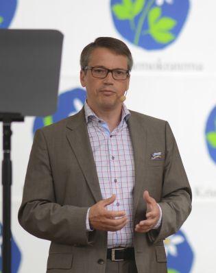 Kristdemokraternas partiledare Göran Hägglund talar i Almedalen 2012