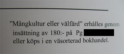 bild av broshyr - sverigedemokraterna hänvisar till väsorterad bokhandel