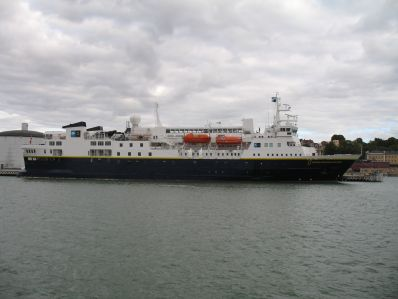 National Geographic Explorer in Visby harbour